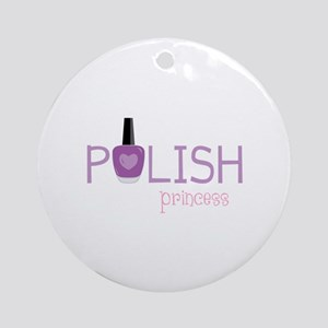 Polish Princess Round Ornament
