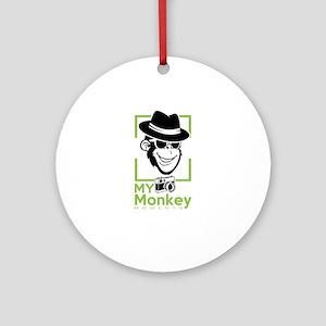my monkey moments Round Ornament