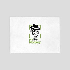 my monkey moments 5'x7'Area Rug