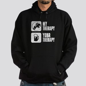 Show Jumping My Therapy Hoodie (dark)