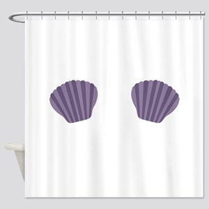 Purple Mermaid Bikini Shower Curtain
