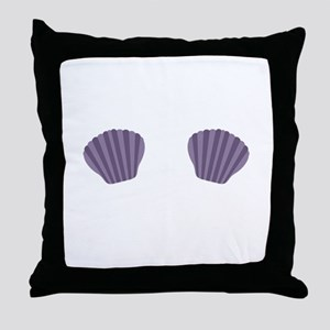 Purple Mermaid Bikini Throw Pillow