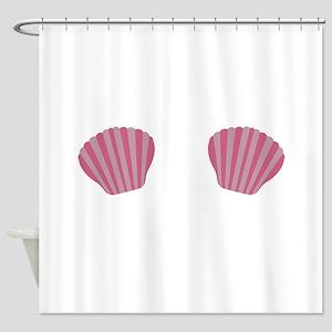 Pink Mermaid Bikini Shower Curtain