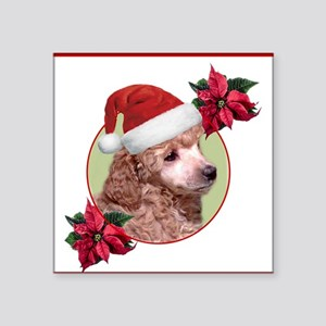 Christmas poodle puppy Sticker
