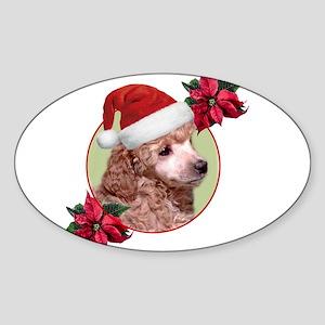 Christmas Poodle dog Sticker
