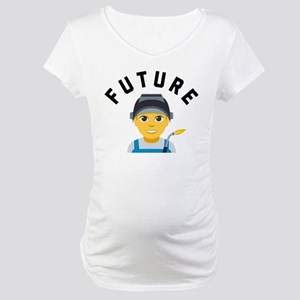 Emoji Future Welder Maternity T-Shirt