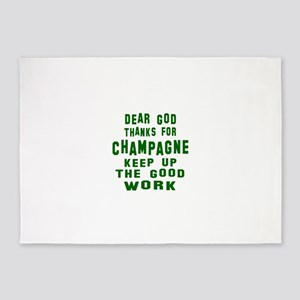 Dear God Thanks For Champagne 5'x7'Area Rug