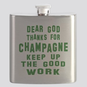 Dear God Thanks For Champagne Flask