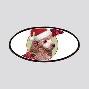 Christmas Poodle dog Patch