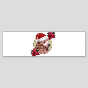 Christmas Poodle dog Bumper Sticker