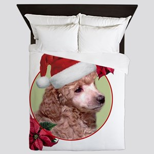 Christmas Poodle dog Queen Duvet