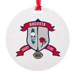 Augusta Rugby Round Ornament