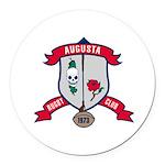 Augusta Rugby Round Car Magnet