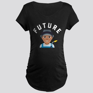 Emoji Future Welder Maternity Dark T-Shirt