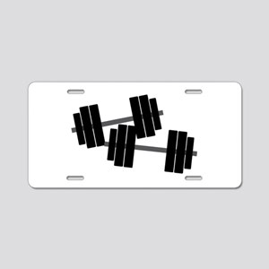 Dumbbell Weights Aluminum License Plate