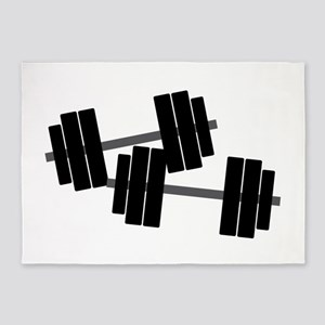 Dumbbell Weights 5'x7'Area Rug