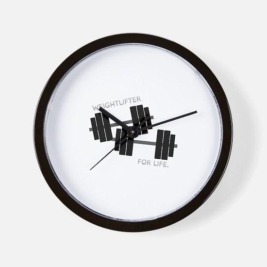 Weightlifter Wall Clock