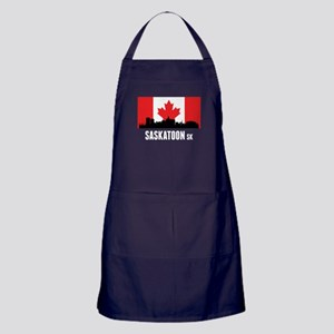 Saskatoon SK Canadian Flag Apron (dark)