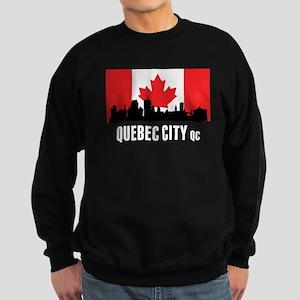 Quebec City QC Canadian Flag Sweatshirt