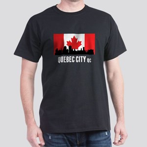 Quebec City QC Canadian Flag T-Shirt