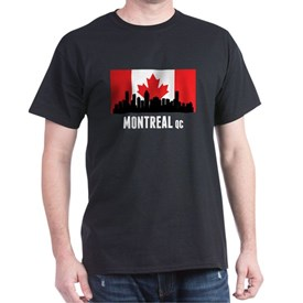 Montreal QC Canadian Flag T-Shirt
