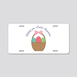 Easter Happiness Aluminum License Plate