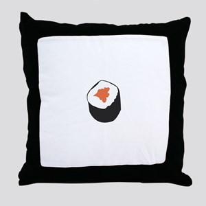 Sushi roll Throw Pillow