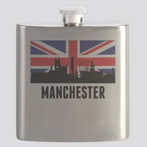Manchester British Flag Flask