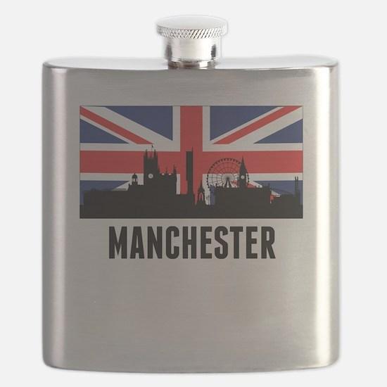 Manchester British Flag Flask