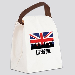 Liverpool British Flag Canvas Lunch Bag