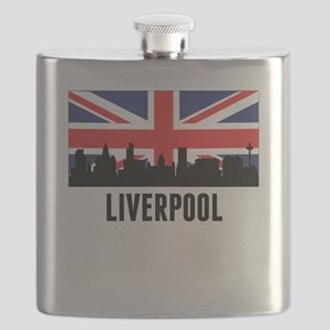 Liverpool British Flag Flask