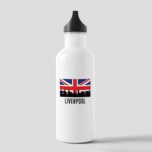 Liverpool British Flag Water Bottle