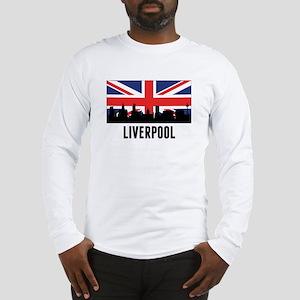 Liverpool British Flag Long Sleeve T-Shirt