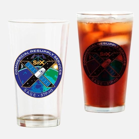 SpX-10 Logo Drinking Glass