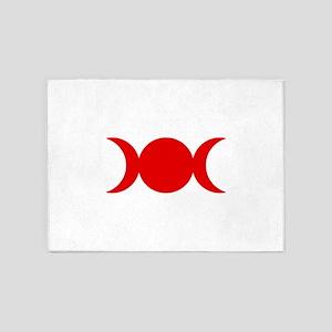 Red Triple Goddess 5'x7'Area Rug