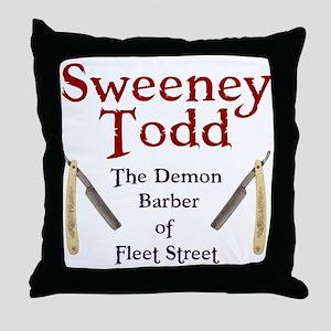 Sweeney Todd Throw Pillow