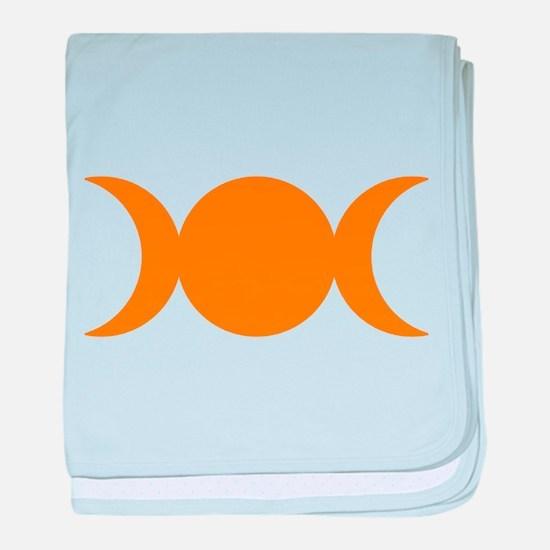 Orange Triple Goddess baby blanket