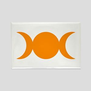 Orange Triple Goddess Magnets