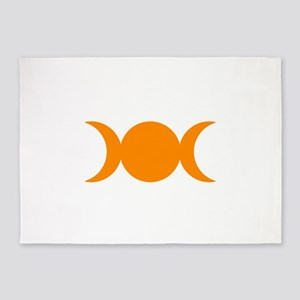 Orange Triple Goddess 5'x7'Area Rug