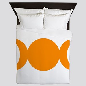 Orange Triple Goddess Queen Duvet