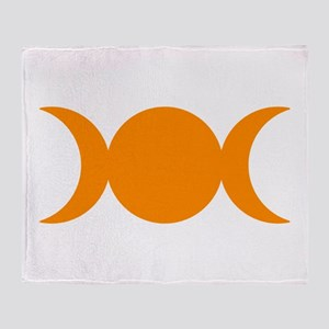 Orange Triple Goddess Throw Blanket