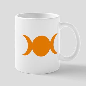 Orange Triple Goddess Mugs