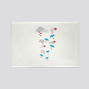 Umbrellas with hearts Magnets