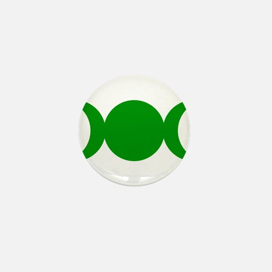 Green Triple Goddess Mini Button