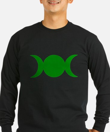 Green Triple Goddess Long Sleeve T-Shirt
