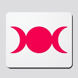 Hot Pink Triple Goddess Mousepad