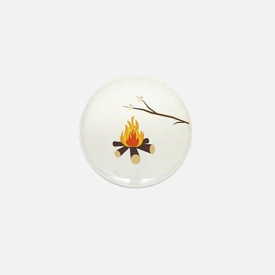 Campfire with marshmallows Mini Button