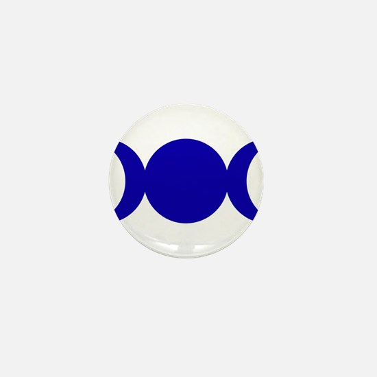 Dark Blue Triple Goddess Mini Button