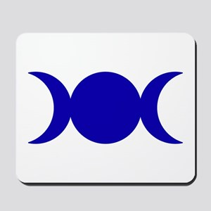 Dark Blue Triple Goddess Mousepad
