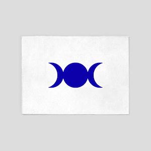 Dark Blue Triple Goddess 5'x7'Area Rug